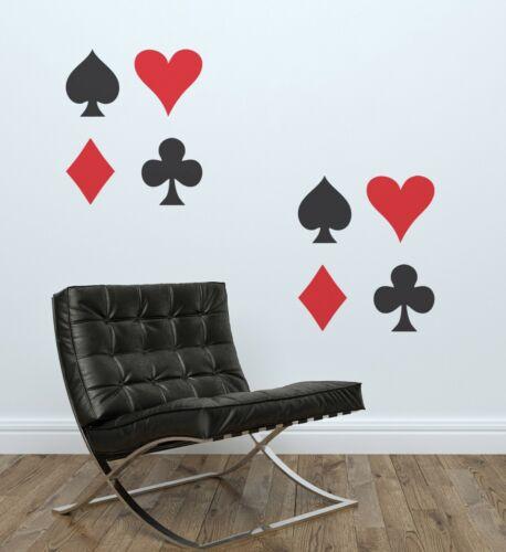 Large Heart Diamond Spade Club Template Playing Card Symbol Stencil