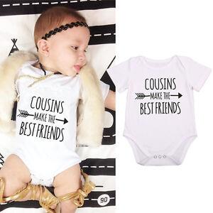 17b784891f12 Newborn Infant Baby Boy Girl Funny Romper Bodysuit Jumpsuit Clothes ...