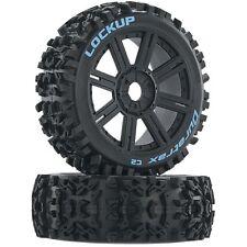 Set of 4 NEW Duratrax Lockup Buggy Tire C2 Mounted Spoke Black (4) DTXC3616