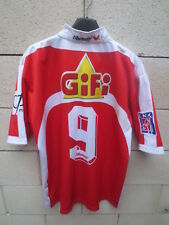 Maillot rugby AUCH porté n°9 LNR patch vintage 2005 collector shirt L Shemsy