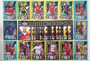 2020-21-Match-Attax-UEFA-Lot-of-100-cards-inc-20-shiny-1-Limited-amp-100-Club