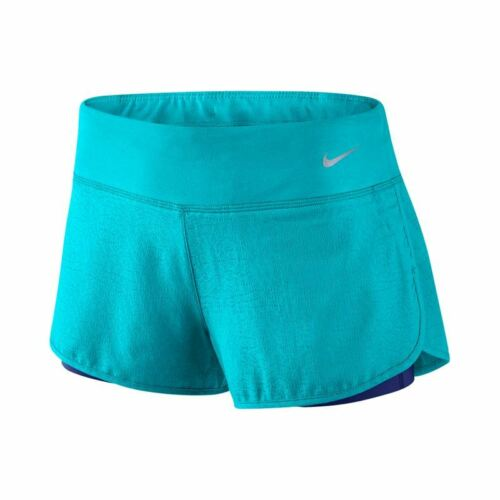 NEW Nike Rival Jacquard 2IN1 Shorts Running Gym. Blue Extra Small