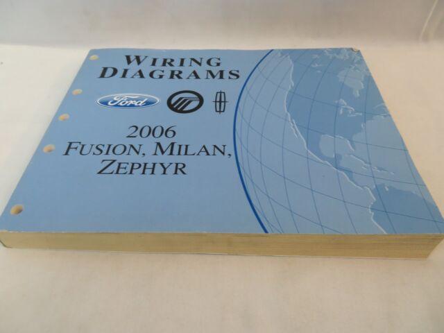 2006 Ford Fusion Milan Zephyr Wiring Diagrams Service