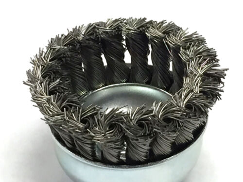 "Carbon Steel Wire 2-3//4/"" Dia Knot Style Cup Brush 5 Pack"
