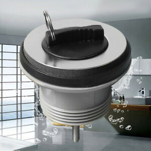 Kitchen-Sink-Waste-Plug-Steel-Plated-Slot-Tail-Basin-Rubber-Plug-Pull-Ring-W8H