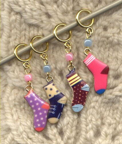 Single Sock Knitting Stitch Markers Second Sock Syndrome Set of 4//SM265A