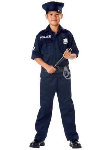Police Officer Cop Policeman Dress Up Boys Costume