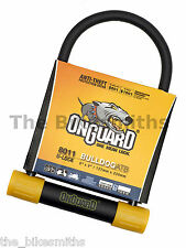 "OnGuard Bulldog 8011 ATB U-lock MTB Bike Hardened Double Locking Wider 9"" x  5"""