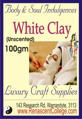 Skin Care Base MASKS 100gm WHITE CLAY Add to Soap froths soap creamier