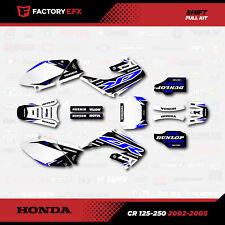 HONDA CR 125 250 02-15 GRAPHICS KIT CREATORX DECALS STICKERS YRW