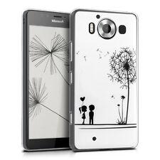 kwmobile Crystal Case für Microsoft Lumia 950 Pusteblume Love IMD Design Cover