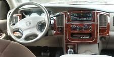 2002 2003 2004 2005 DODGE RAM 1500 2500 3500 INTERIOR WOOD DASH TRIM KIT SET