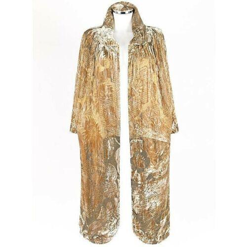 JEAN PATOU Haute Couture c.1920s Gold Silk Velvet