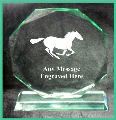 Verre équitation 18 cm Octagon Award Trophy GA1055 gravé personnalisé