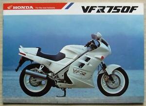 HONDA VFR750F E TYPE MOTORCYCLE Sales Brochure 1987 #2C722G