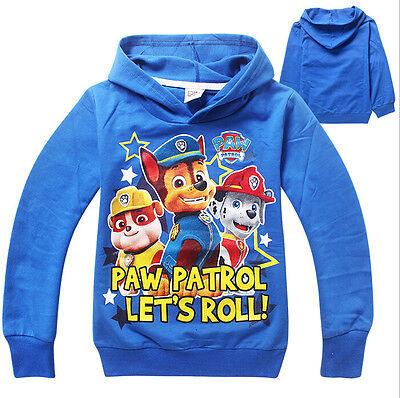 Kids Boy Girls  PAW PATROL LET'S ROLL HOODIE BOYS GIRLS Dogs CLOTHING TOP JUMPER