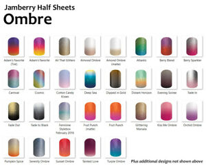Jamberry-OMBRE-Nail-Wraps-Half-Sheet-In-stock-FREE-SHIPPING