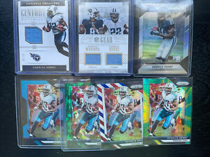 Derrick Henry Prizm National Treasures RC Rookie Silver Patch Jersey 7 Card Lot
