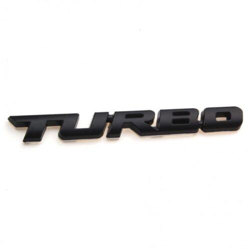 Turbo noir hayon coffre autocollant badge decal emblem logo 3D TOP QUALITÉ Stock