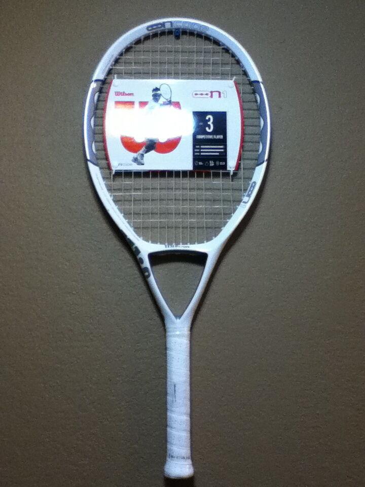 Wilson NCode N1 115 OverTaille Enfilées Sensation 16 Raquette de tennis 4-1 4  NEUF