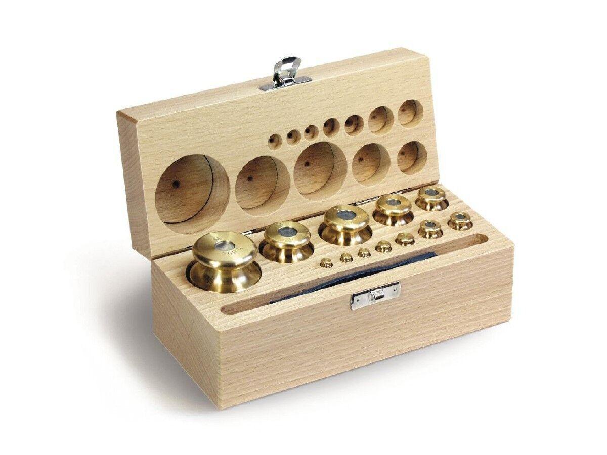 garantía de crédito M1 Juego de pesos,1 g g g 10 kg Acero inoxidable finamente torcido Estuche de madera  estilo clásico