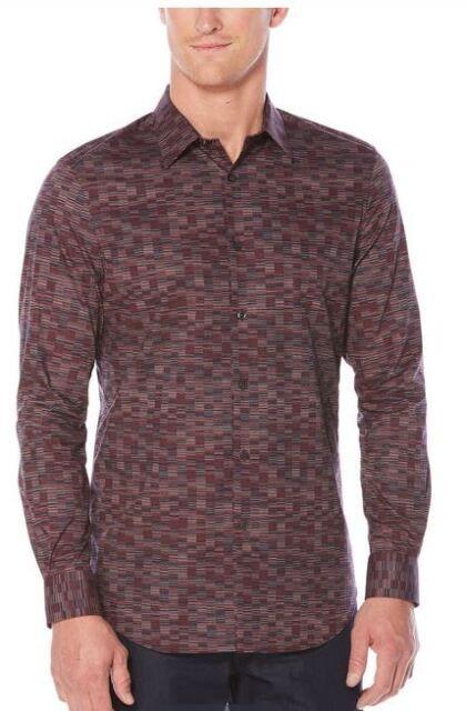 Perry Ellis Mens Big and Tall Tile Print Shirt