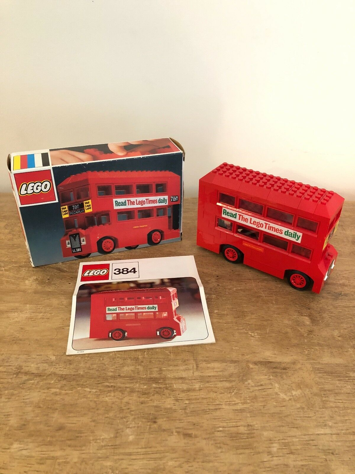 LEGO Rare Vintage London Bus  Set 384 - 1973 With Original Box And Instructions