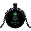 Vintage légaliser il Noir Cabochon Verre Chaîne Collier Sautoir Pendentif