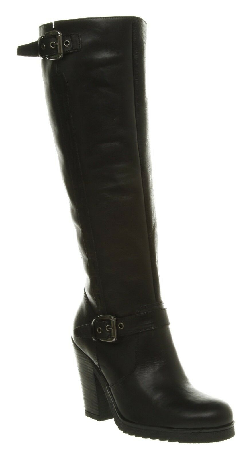 Womens Office Jane Side Stitch Boot Black Leather Boots . Reg-Price $260