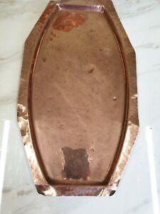 Craftsman Copper Serving Tray Vintage 1930 Arts and Crafts