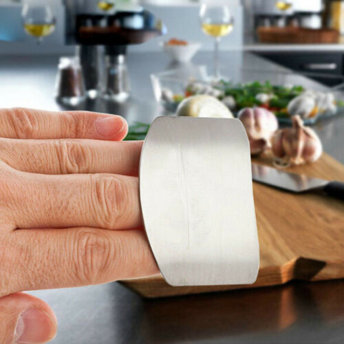 Stainless Steel Kitchen Finger Hand Protector Guard Chop Slice Shield Cook Tool