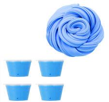 4x Blau Fluffy Fluff Floam Slime Schleim für Stressabbau Baby DIY Spielzeug Kit