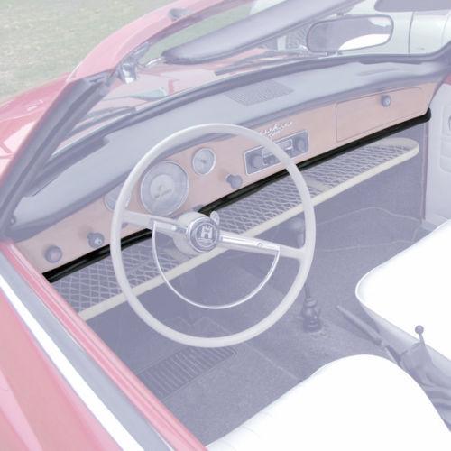 VW KARMANN GHIA NEW KICK PAD 2-PIECE LOWER DASH 1968-1971 COUPE OR CONVERTIBLE!