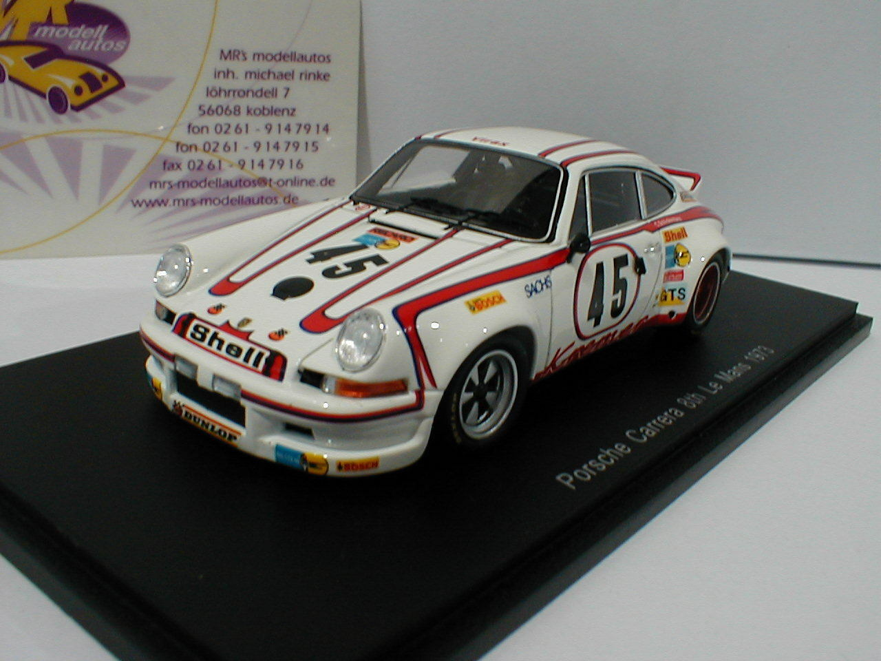 SPARK s4688-Porsche 911 Carrera RSR nº 45 8th Le Mans 1973 E. KREMER 1 43 Nouveau