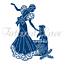Lady /& Puppy Dog Tattered Lace ART DECO /'Not Just For Christmas/' Die TLD0488