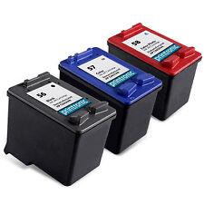 3PK HP 56 HP 57 HP 58 C6656AN C6657AN C6658AN Ink Cartridge for DeskJet Printer