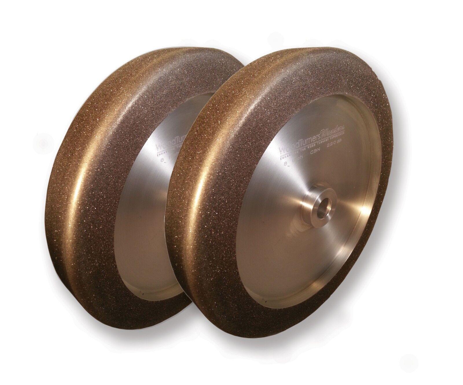 CBN Wheel Pair - 4-in-1 - 8  diameter, 5 8  arbor, 220 + 1000 Grits