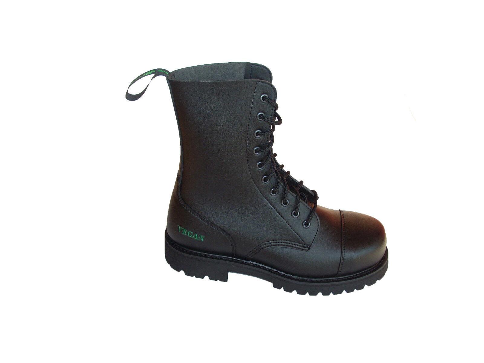 Vegane, Schnürung. Stiefel mit Stahlkappe und Schnürung. Vegane, Hergestellt aus Mikrofrasern. 261b9d