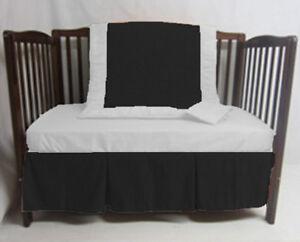 Unisex Crib Bedding set 5 Piece Fitted Pillowcase Comforter 3 tier Skirt Bumpers