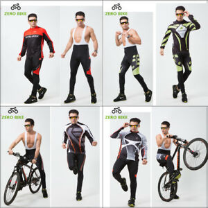 Mens Bike Cycling Shirt Knicks Set Riding Jersey Bib Shorts Pad Tights Kits