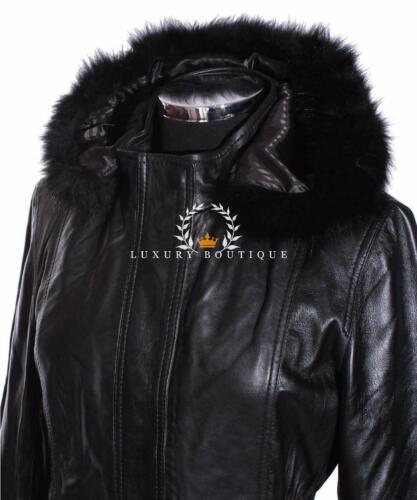 Coat Fur Lambskin Designer Hooded Ladies Leather Smart Juliet Long Black Jacket q7C4ZwTT