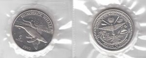 MARSHALL-ISLANDS-RARE-5-UNC-COIN-1993-YEAR-KM-110-HUMPBACK-WHALE