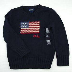 Details zu New Polo Ralph Lauren Boys USA Pullover Flag Sweater