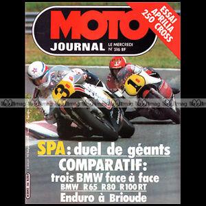 Actif Moto Journal 516 Bmw R100 Rt R65 R80 Gs R 65 80 100 Aprilia 250 Mx Gp Spa 1981 Avoir à La Fois La Qualité De TéNacité Et De Dureté