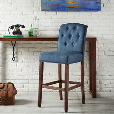 Prime Madison Park Misha Navy Tufted 30 Inch Bar Stool 19 5W X Creativecarmelina Interior Chair Design Creativecarmelinacom