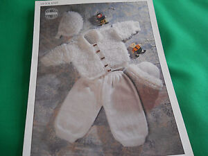 Baby-039-s-loopy-jacket-pants-hat-and-bonnet-size-16-to-size-24-knitting-pattern