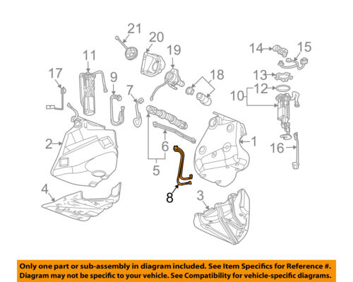 GM OEM Fuel System-Return Pipe Right 10337581