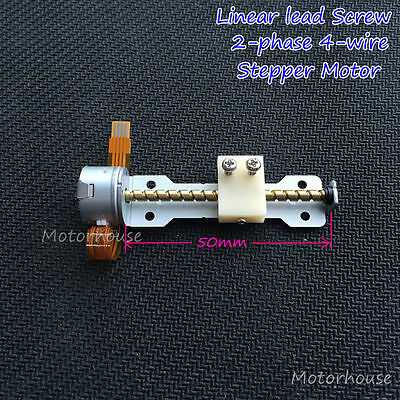 DC 5V 2 Phase 4 Wire Mini Stepper Motor linear screw slider moving block nut DIY