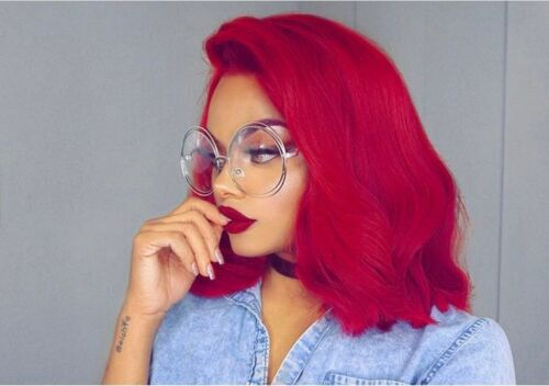 """OVERSIZED ROUND CLEAR LENS FASHION /""""CARLINA/"""" METAL DOUBLE WIRE CIRCLE GLASSES BN"""