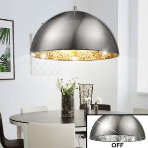 Détails sur Éclairage plafonnier lustre suspension luminaire argent salle à  manger lumière